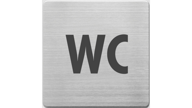 Alco AL-450-5 Pictogram RVS 90x90x1mm - WC -