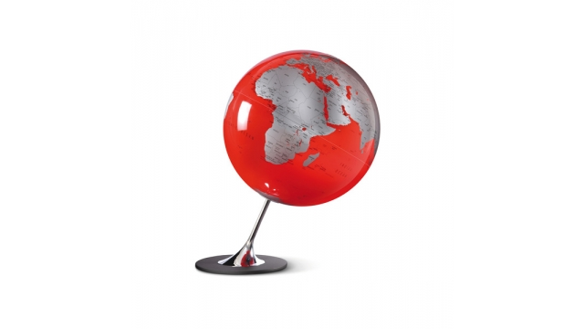 Atmosphere NR-0324AGYR-GB Globe Anglo Red 25cm Diameter Metaal / Chrome