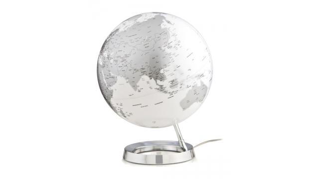 Atmosphere NR-0331F7NS-GB Globe Bright Chrome 30cm Diameter Kunststof Voet Engelstalig