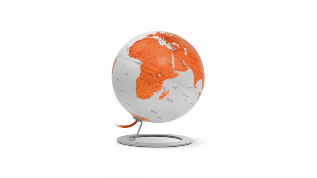 Atmosphere NR-0324IGWO-GB Globe IGlobe Light Orange 25cmdiameter Metaal/chrome Oranje