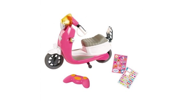 Baby Born RC City Scooter met Licht en Stickers Roze