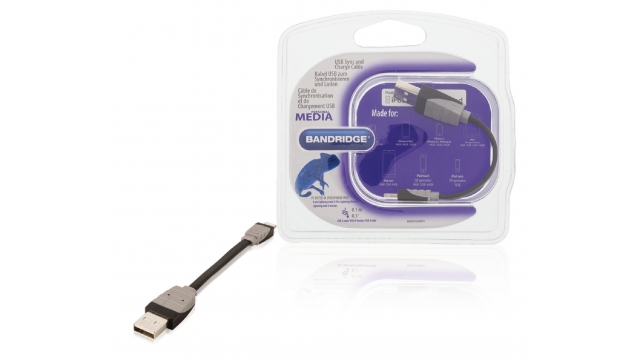 Bandridge BBM39300B01 Data En Oplaadkabel Apple Lightning - A Male 0.10 M Zwart
