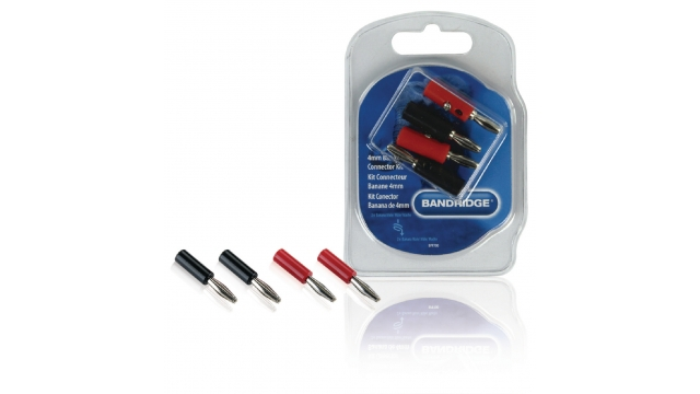 Bandridge BPP700 Audio Connector Kit Banana Zwart/rood