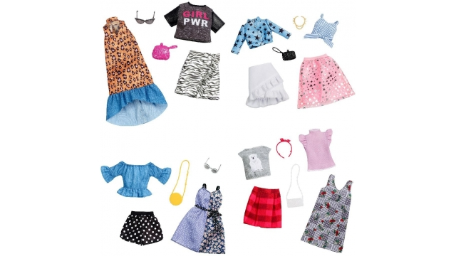 Barbie Fashion 2 Outfits met Accessoires Assorti