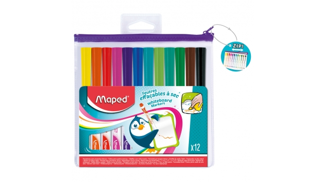 Maped Whiteboard Stiften 12 Kleuren