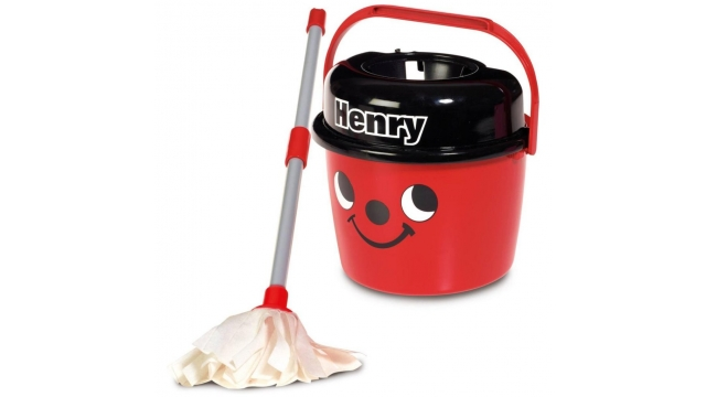 Numatic Little Helper Little Henry Mop en Emmer Rood