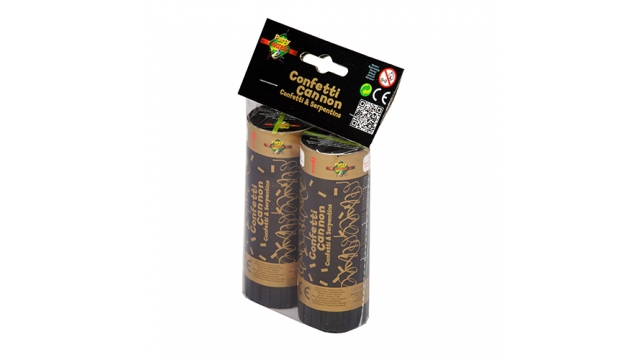 Confettikanon Party Cannon Foil Strips Gold
