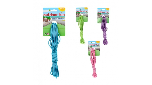 Outdoor Fun Chinese Springelastiek 10 m Assorti