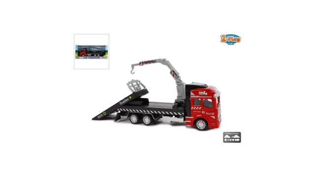 2-Play Traffic Pull-Back Autotransporter 19 cm
