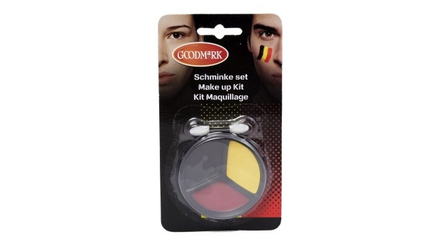 Belgian Red Devils Make-up Kit Driekleur