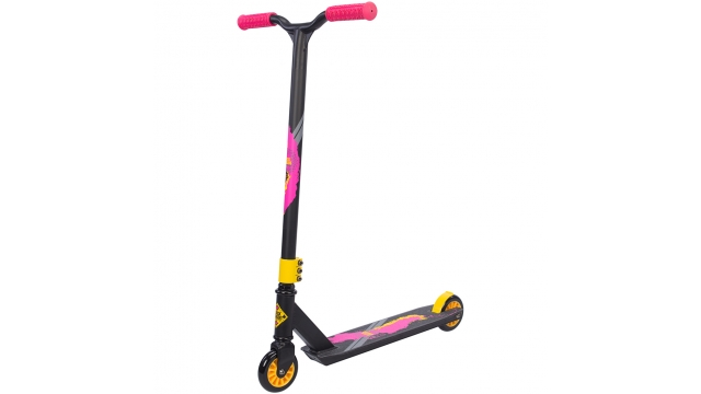 Black Dragon Step Stunt Scooter Antraciet/Geel/Rood