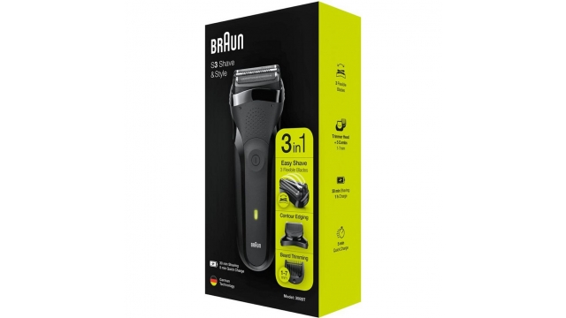Braun 300BT S3 Shave and Style 3in1 Scheerapparaat Zwart