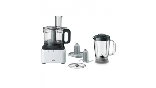 Braun FP3131WH PurEase Foodprocessor Wit/Grijs