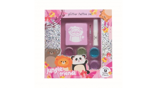 Casuelle Jungle Friends Glitter Tattoo Set