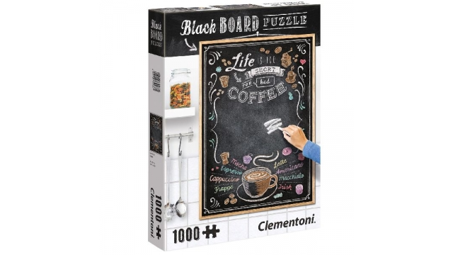 Clementoni Black Board Coffee Puzzel 1000 Stukjes
