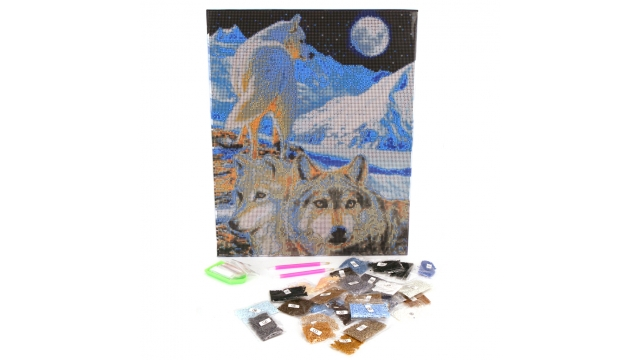 Craft Buddy Crystal Art Diamond Painting Set Wolven 40x50 cm