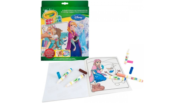 Crayola Disney Frozen Kleurboek + 5 Color Wonder Viltstiften