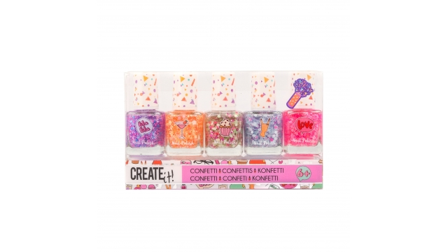 Create It Confetti Nagellak 5 Stuks