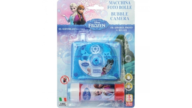 Disney Frozen Bubble Camera + 60ml Bellenblaas