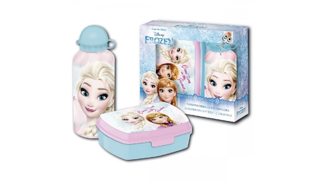 Disney Frozen Broodtrommel + Aluminium Drinkfles