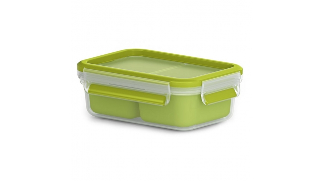 Emsa Clip and Go Snackbox 16.3x11.3x5.8 cm Groen