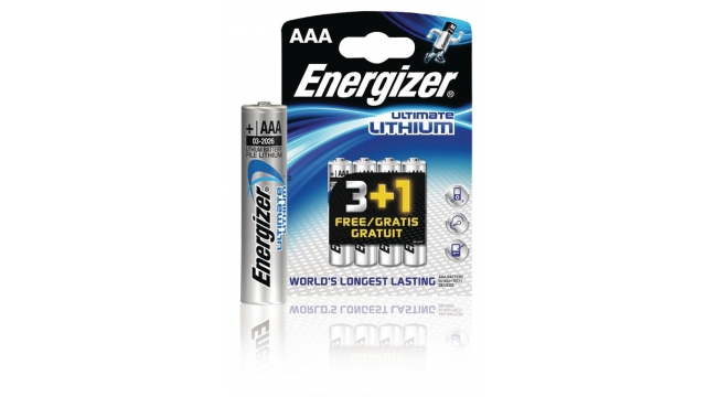Energizer EN-639173 Lithium Batterij Aaa 1.5 V Ultimate 4-promotional Blister