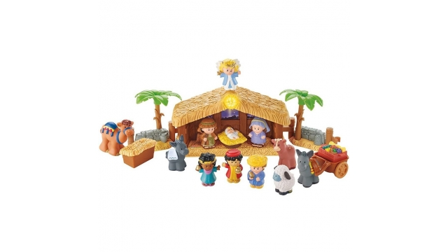 Fisher Price Little People Kerststal met Lichtgevende Engel