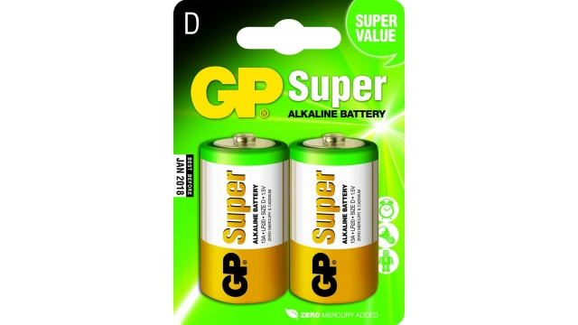 GP Batteries Gp Batterij Super Alkaline D A2