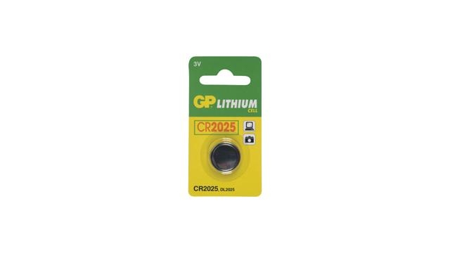 GP Batteries Knoopcel CR2025 lituim 3V