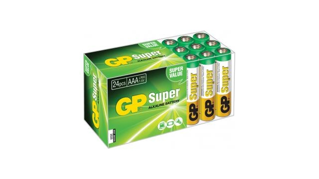 Gp GP-BOX24AAA Super Alkaline Box 24 Aaa