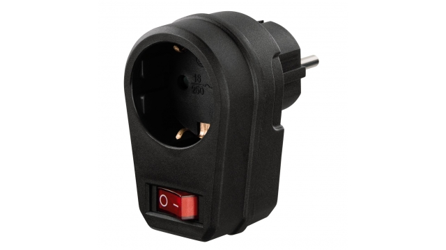 Hama Socket Adapter Switchable Black