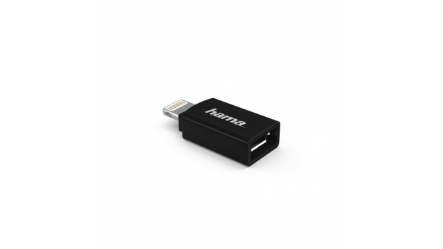 Hama Micro-USB-adapter Naar Apple Lightning-stekker MFI Zwart