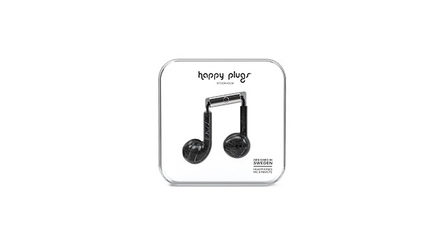 Happy Plugs Hoofdtelefoon Earbud Plus Black Marble