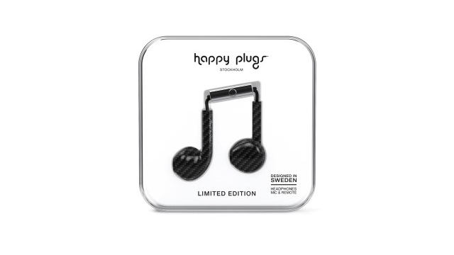 Happy Plugs Hoofdtelefoon Carbon Fiber Earbud Plus