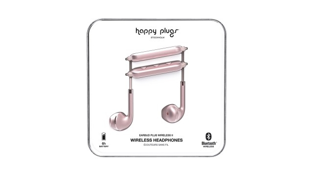 Happy Plugs Hoofdtelefoon Earbud Plus II BT Pink Gold