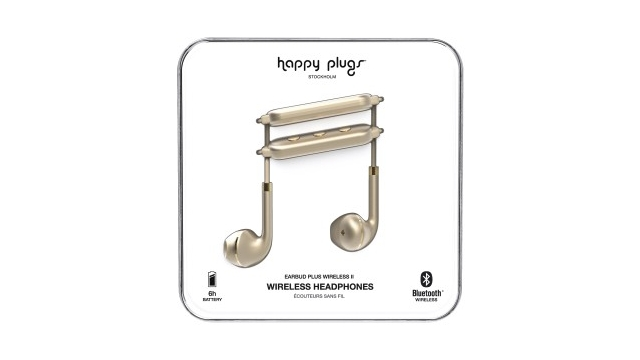 Happy Plugs Hoofdtelefoon Earbud Plus II BT Mat Goud