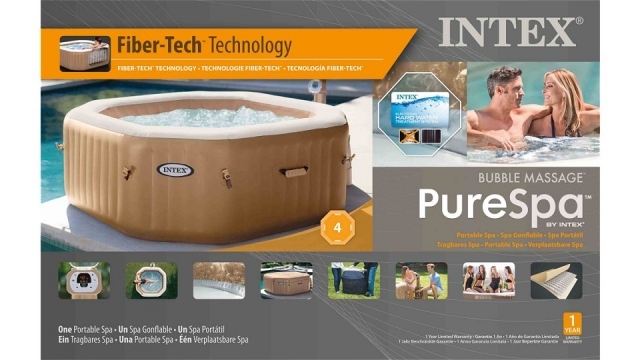 Intex 28414NL PureSpa Bubble Therapy Jacuzzi 4-Persoons Set 201/150x71cm