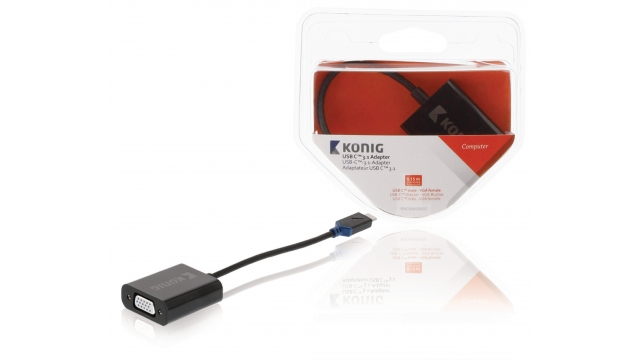 König KNC64850E02 Usb 3.1 Adapter Usb-c Male - Vga Female 15-pins Antraciet