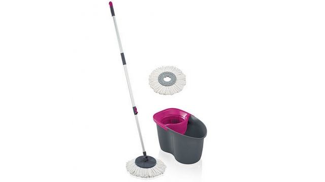 Leifheit 55267 Rotation Disc Mop Set Grijs/Roze