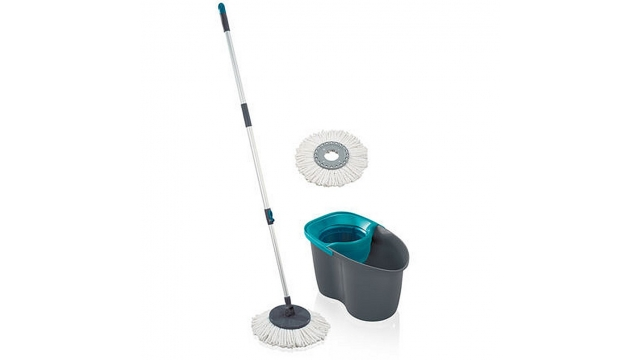 Leifheit 55269 Rotation Disc Mop Set Grijs/Lagoon