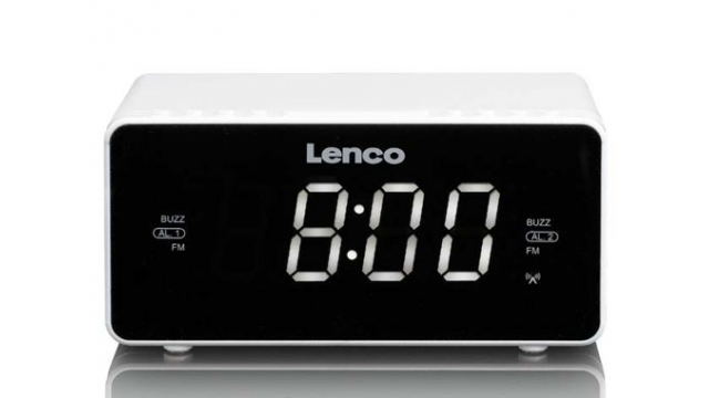 Lenco CR-530 Wekkerradio Wit