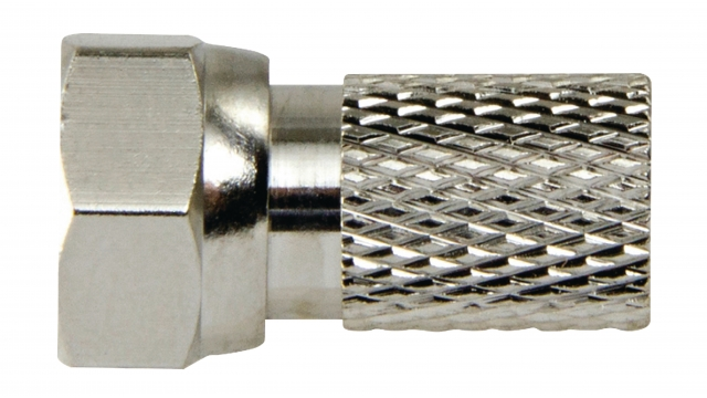 Macab F4331114 F-connector 2.5 Mm Male Metaal Zilver/zilver