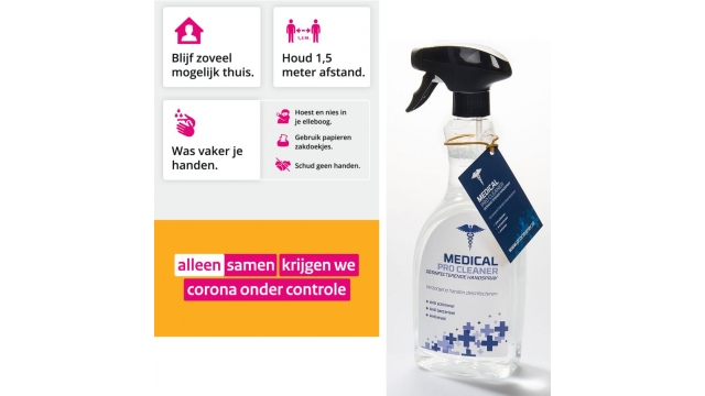 Medical Pro Cleaner Desinfecterende Handspray 750 ml