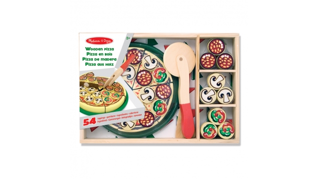 Melissa & Doug Houten Pizza Set 54-delig