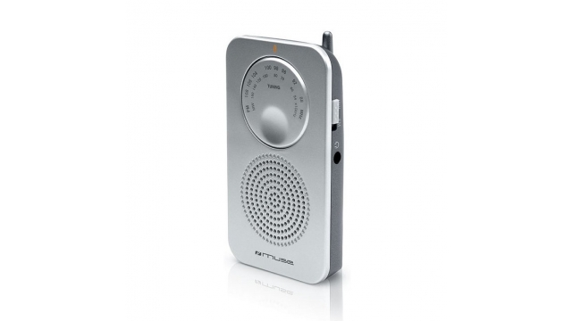 Muse M-01RS Pocketradio Zilver
