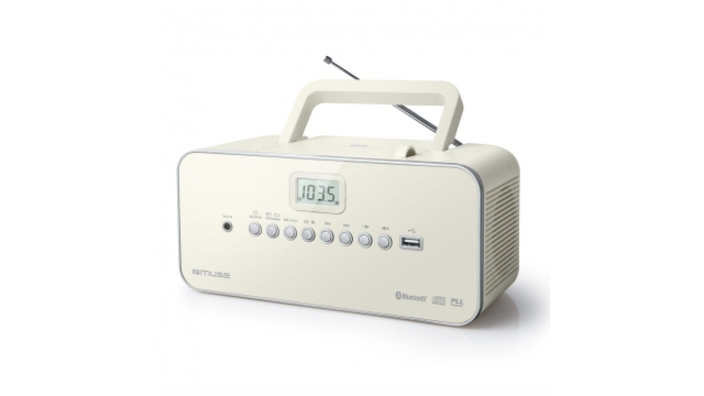 Muse M-30BTN Draagbare Radio/CD-Speler Wit
