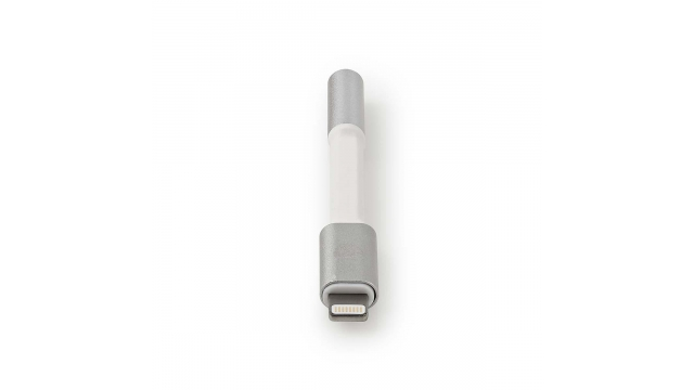 Nedis CCTB39950AL015 Apple Lightning-adapter Apple Lightning 8-pins Male - 3,5 Mm Female 0,08 M Aluminium