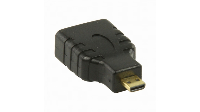Nedis CVGP34907BK Hdmi™-adapter Hdmi™-microconnector - Hdmi™ Female Zwart