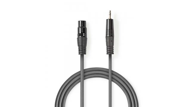 Nedis COTH15300GY15 Xlr-audiokabel Xlr 3-pins Male - 3,5 Mm Male 1,5 M Grijs