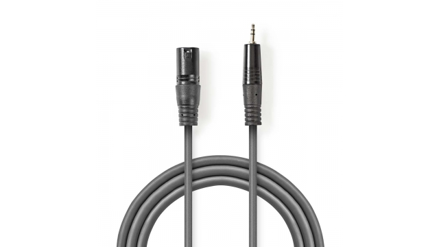 Nedis COTH15300GY30 Xlr-audiokabel Xlr 3-pins Male - 3,5 Mm Male 3,0 M Grijs